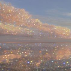 Shiny sky Art Print by Yana Potter artist - X-Small Boujee Aesthetic, Aesthetic Collage, Aesthetic Photo, Aesthetic Pictures, Aesthetic Vintage, Aesthetic Pastel Wallpaper, Aesthetic Backgrounds, Aesthetic Wallpapers, Glitter Wallpaper