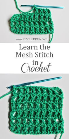 From Rescued Paw Learn the Mesh Stitch in Crochet
