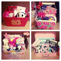 "Absolutely adorable ""going to college"" care package! I would die if I got one of these as a graduation gift!!!"