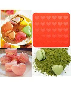 Quiero aprender a hacer macarons!! Plantilla de corazones para 30 macarons