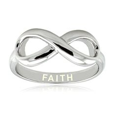 Sterling Silver Faith Engraved Infinity Ring Size 8 * You can get more details by clicking on the image.Note:It is affiliate link to Amazon.