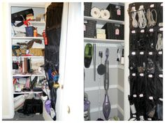 Creating space in closets