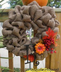 {createinspire}: Burlap Wreath