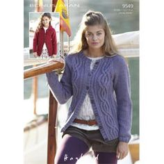 Sirdar Bonus Aran Cardigan In Hayfield 9549