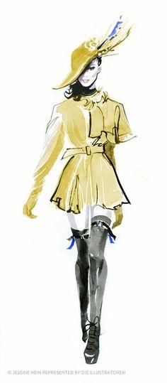 Die Illustratoren - Portfolio - Jessine Hein You are in the right place about fashion sketches abstr Fashion Design Sketchbook, Fashion Design Portfolio, Fashion Illustration Sketches, Illustration Mode, Fashion Design Drawings, Fashion Sketches, Trendy Fashion, Fashion Art, Fashion Trends