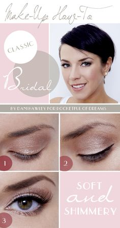 Make-up Tutorial: A pretty classic #bridal  #makeup look by makeup artist Dani Hawley on Pocketful of Dreams blog