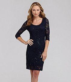 Marina SequinLace Dress #Dillards possible bridesmaid dress?