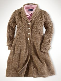 Marled Sweater Coat - brown heather