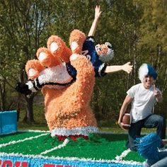 Everything you need to construct the best parade float like the Crushed Football Player Parade Float Kit and more can be found at Parade Float Supplies Now! & Parade float ideas | Parade floats | Pinterest | Homecoming floats ...