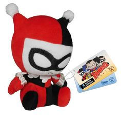 Buy Mopeez DC Comics Batman Harley Quinn Plush Figure from Pop In A Box UK, the home of Funko Pop Vinyl subscriptions and more. Dc Heroes, Comic Book Heroes, Comic Books, Gotham City, Action Toys, Action Figures, Dc Universe, Disney Pixar, Dc Comics