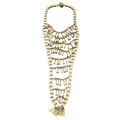 WILLIAM de LILLO Mans Neck Piece 1968 | From a unique collection of vintage link necklaces at http://www.1stdibs.com/jewelry/necklaces/link-necklaces/