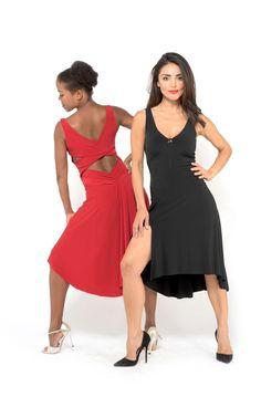 D1 The criss cross top and draped back skirt tango dress 8