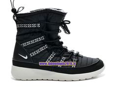497a681d64485 Nike Roshe One Hi GS - SneakerBoot Nike Pas Cher Pour Femme Fille  Noir Blanc 615968-002