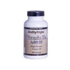 Healthy Origins Vitamin D3 2400 IU (360 Softgels)