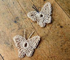 Esquemas de mariposas y flores a crochet   diarioartesanal
