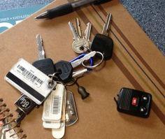 When the car remote breaks off the key ring -- quick fix, easy to do Car Key Ring, Car Key Fob, Car Key Repair, Car Fix, Cable Tie, Car Hacks, Car Engine, Key Fobs, Key Rings