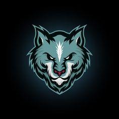 Vector illustration blue wolf head mascot logo icon suitable for e sports logo or t shirt illustration and badge Template Corporate Logo Design, Minimal Logo Design, Logo Lobo, Wolf Silhouette, Drop Logo, Circle Logo Design, Butterfly Logo, Leaf Logo, Abstract Logo