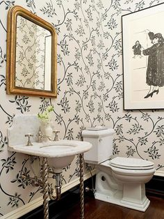 Opting for vertical elements in a powder room can also help the small space feel larger: http://www.bhg.com/bathroom/type/half/half-bath-design-ideas/?socsrc=bhgpin022515vintagecalm&page=9
