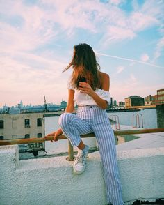 "119.5k Likes, 371 Comments - Brandy Melville (@brandymelvilleusa) on Instagram: ""#brandyusa Ezra Top & Tilden Pants"""