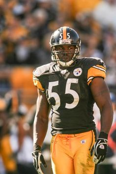 Joey Porter one of the hardest hitting pittsburgh steeler to put on the black and yellow with the biggest mouth loved seeing him play