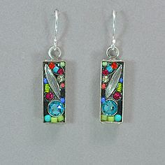Firefly Luxe Small Rectangle Earrings - Multicolor