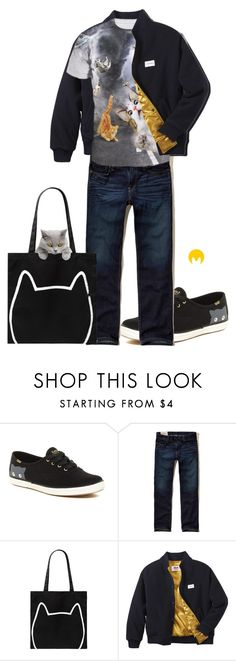 """Cat Lover"" by imageconsultingzurich ❤ liked on Polyvore featuring Keds, Hollister Co., Forever 21, Twins For Peace, men's fashion, menswear and veganwithstyle"