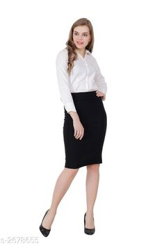 Checkout this latest Skirts Product Name: *Trendy Women's Pencil Skirt* Sizes:  26, 28, 30, 32, 34, 36, 38, 40 Country of Origin: India Easy Returns Available In Case Of Any Issue   Catalog Rating: ★4.2 (1694)  Catalog Name: Fashionable Trendy Women's Pencil Skirt Vol 1 CatalogID_362463 C79-SC1040 Code: 723-2678655-987
