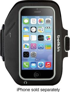 Belkin - Sport-Fit Plus Armband for Apple® iPhone® SE, 5s, 5c & 5 - Black