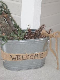 From Decorated Chaos Trying to come up with ideas for when it is too cold for the flowers on the front porch!