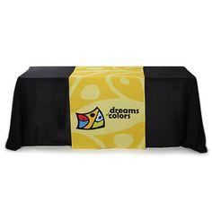 30 inch x 72 inch Liquid Repellent Full Color Table Runner