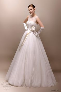 max chaoul wedding dresses 2013 grace 1960s style ball gown