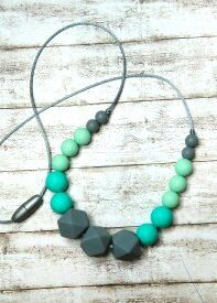 Check out this item in my Etsy shop https://www.etsy.com/listing/503635561/nursing-necklace-silicone-beads-teething