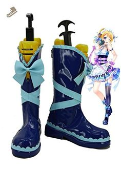 LoveLive! Love Live Happy Valentine's Day Maid Live! Ayase Eli Cosplay Shoes Boots Custom Made - Telacos sneakers for women (*Amazon Partner-Link)