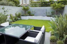 Contemporary Terrace Garden Design With Rattan Furniture