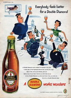 1955 Double Diamond Pale Ale Beer Ad