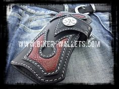 """Scythe"" 8"" Custom Handmade Stingray Men's Biker Wallet Leather Pattern, Wallet Chain, Leather Accessories, Leather Craft, Bag Making, Nike Air Force, Leather Wallet, Biker, Sneakers Nike"