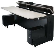Hidden Desks custom folding desk with hidden monitors | gaming desks