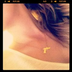 The Gold Gun Necklace by AddieMia on Etsy, $85.00