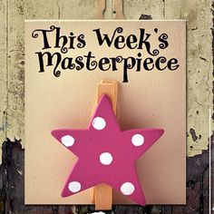'this week's' masterpiece wooden peg by angelic hen | notonthehighstreet.com
