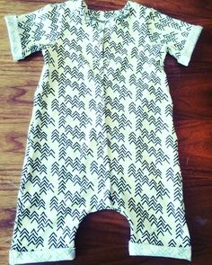 Jumpsuit for toddler summer 2017, rolled hems, jersey fabric, by Ooph