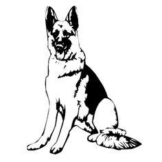 German Shepherd Tattoo, German Shepherd Dogs, German Shepherds, Dog Quilts, Schaefer, Wood Burning Patterns, Animal Silhouette, Cat Cards, Pyrography