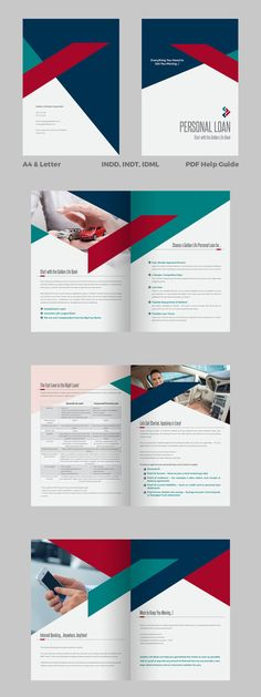 Personal Loan - Banking Brochure Template InDesign INDD - Unlimited Downloads