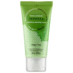 Sephora Collection Cleansing & Exfoliating Cleansing Cream Green Tea oz/ 50 mL Natural Face Moisturizer, Moisturizer For Oily Skin, Face Cleanser, Natural Skin, Best Face Wash, Acne Face Wash, Sephora, Tea Tree Oil For Acne, How To Get Rid Of Acne