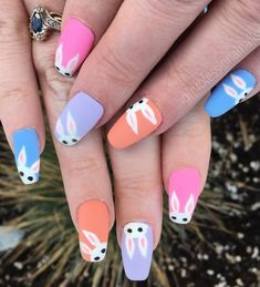 cute and colorful Easter nail art designs to try as soon as possible Nail Art Designs, Easter Nail Designs, Easter Nail Art, Nail Designs Spring, Simple Nail Designs, Acrylic Nail Designs, Nails Design, Easter Color Nails, Easter Crafts