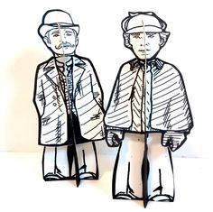 Sherlock Holmes - John Watson Paper Doll - Printable Toy by PaperTownToys on Etsy