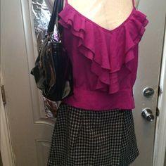 3- PC Bundle:Liz Claiborne Bag/Skort/Crop-Top! Really Nice Bundle: Liz Claiborne Patent Leather Bag! Good Cond! Front magnet not sticking, but Closes well! My Michelle Black & White Skort! Sz. 4! Rhapsody Hot Pink Crop-Top! Says L, but better Fit for S/M! Has Side Button Closure! Really Cute Bundle!! Liz Claiborne Dresses