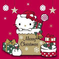 Hello Kitty Christmas Tree, Cat Christmas Cards, Christmas Nativity Set, Snoopy Christmas, Christmas Cartoons, Christmas Tree With Gifts, Christmas Greetings, Xmas, Merry Christmas