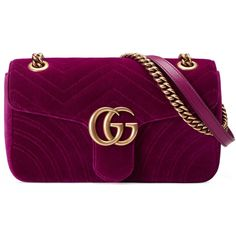 gucci gg marmont velvet shoulder bag found on polyvore. Black Bedroom Furniture Sets. Home Design Ideas