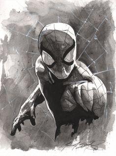 Spider-Man by Matt Slay Marvel Comics Art, Marvel Heroes, Marvel Characters, Spiderman Art, Amazing Spiderman, Spiderman Drawing, Stan Lee, Comic Books Art, Comic Art