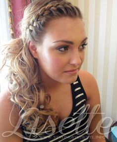 perfect side ponytail with braid for wedding, bride & bridesmaid